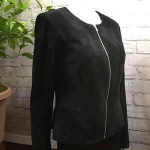 🍃 Calvin Klein black plush workwear size 6 jacket